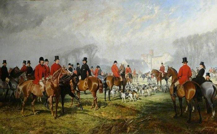 Walker, Joseph Francis; A Meet of Sir Clifford Constable's Stag Hounds at Burton Constable; Burton Constable Hall; http://www.artuk.org/artworks/a-meet-of-sir-clifford-constables-stag-hounds-at-burton-constable-77622
